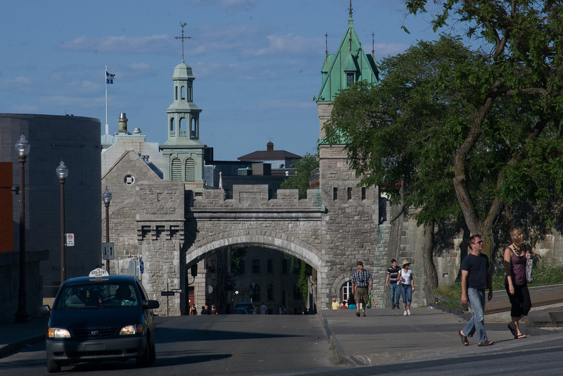 A gate to Old Quebec City.
