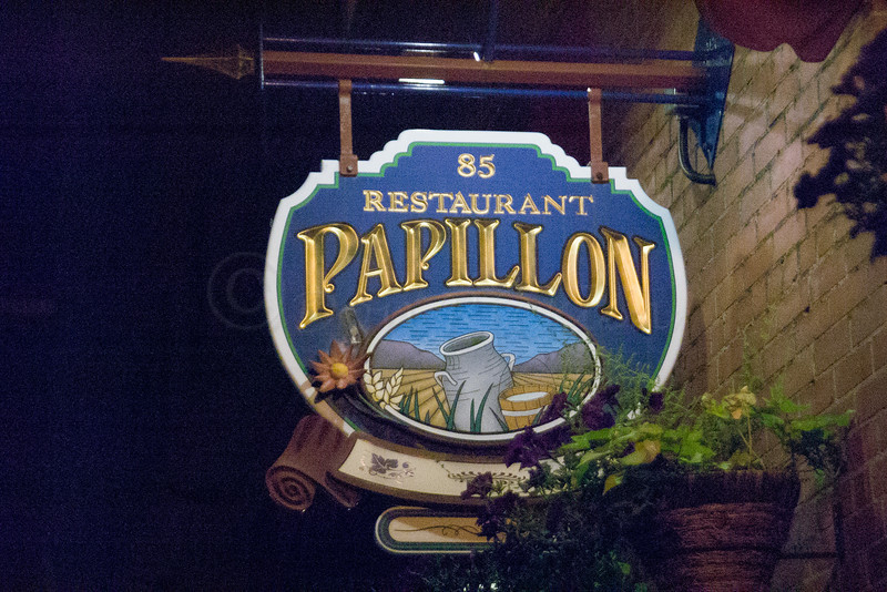 Papillon Restaurant Sign.