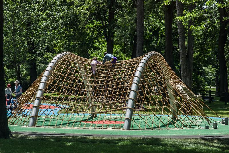 Playground climbing structure.