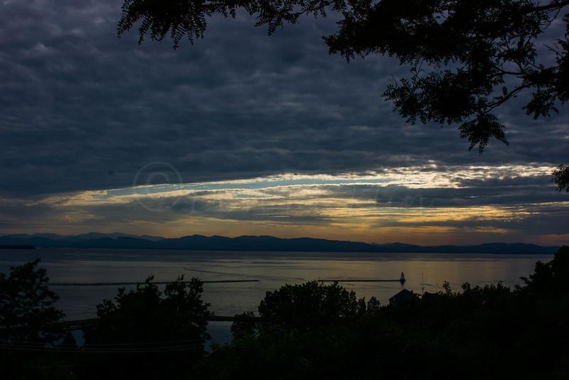 Sunset, Lake Champlain.