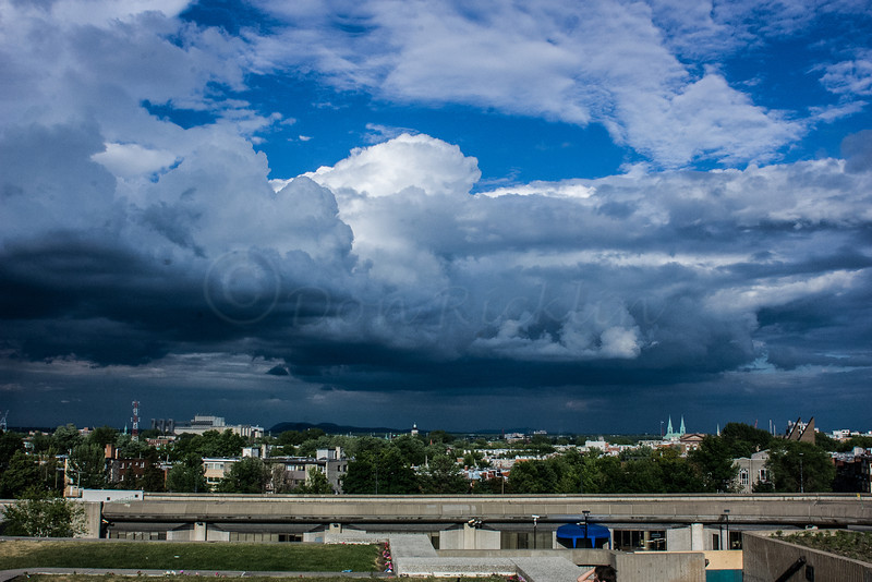 Dramatic sky over Montreal.