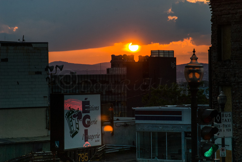 Sunset across Quebec City.