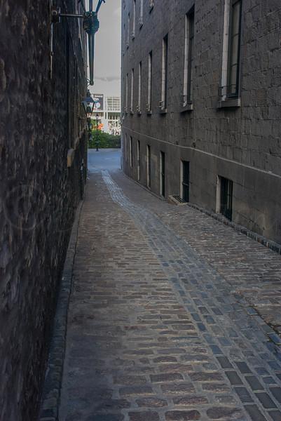 Guttered alley, Montreal, Quebec