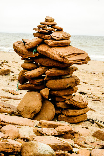 Cairn on the beach.