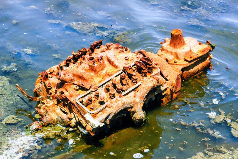 Rusting old engine.
