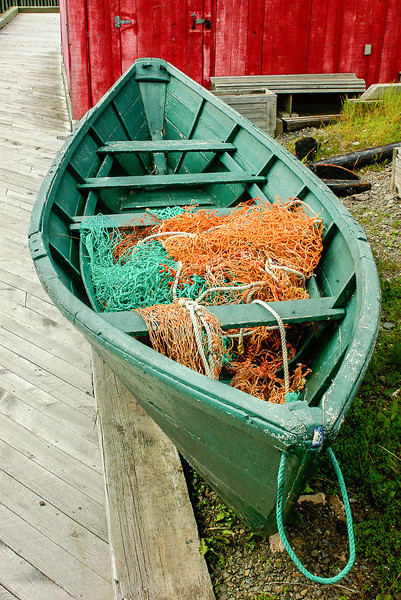Dory, Port George on the Bay of Fundy, Nova Scotia, Can