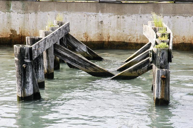 Pier remains.