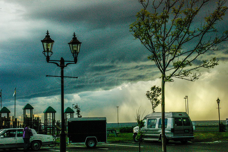Storm Clouds at Noon<br /> Welcoming Center to PEI,  Confederation Bridge, Can