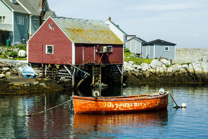 Dory and Boathouse, Peggy's Cove.