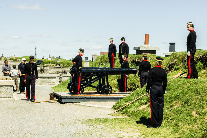 Canon firing Drill at the Fort, Halifax, NS