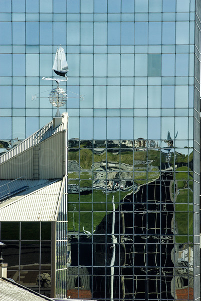 Windvane reflection, Halifax.