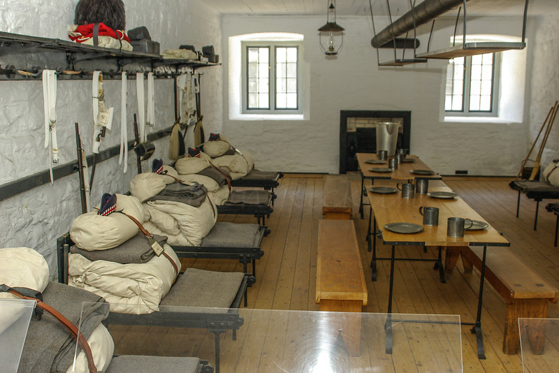 Barrack room at the Fort.