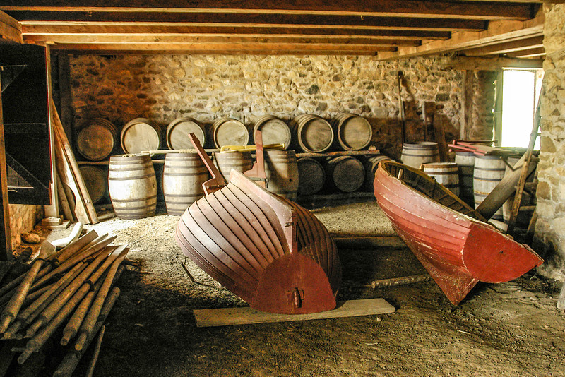 A storage room at the Fortress of Louisbourg National Historic Site