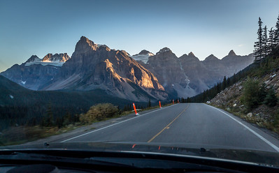 Driving home, Banff National Park, Alberta
