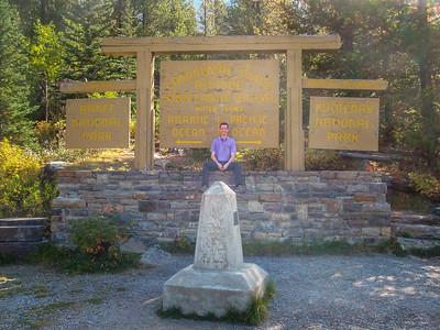 Continental divide on the Vermillion Pass, Banff/Kootenay National Park, Alberta/British Columbia