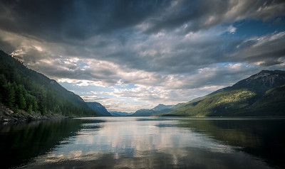 Evening light over Kootenay Lake