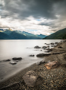 Lake Kootenay, long exposure