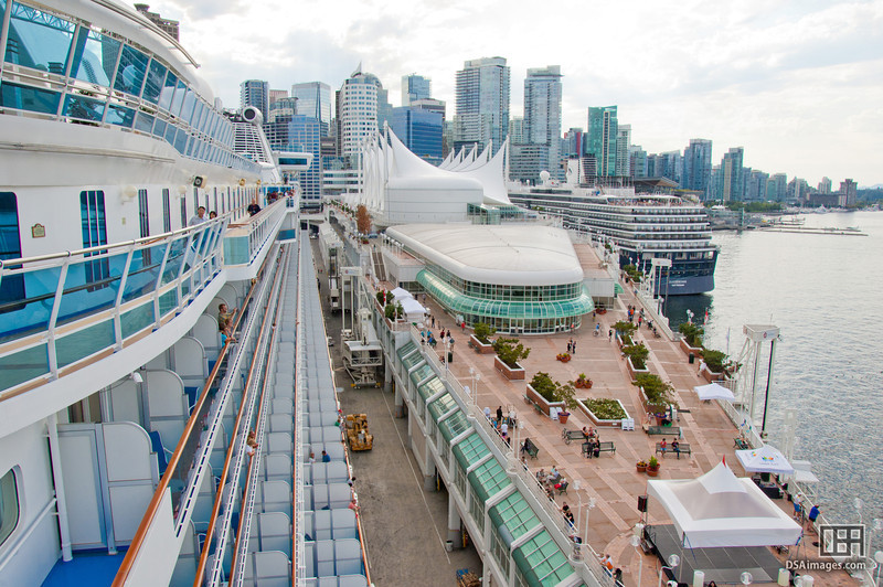 Vancouver city and Canada Place from the Sapphire Princess