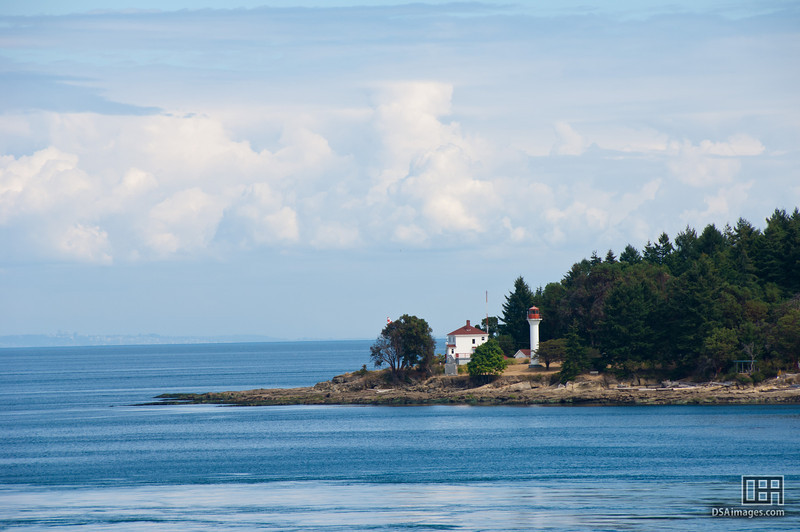 Lighthouse on Mayne Island, from the ferry to Victoria
