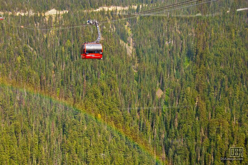 View from the Peak 2 Peak gondola lift, Whistler