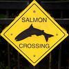 Salmon Crossing sign in Stanley Park, Vancouver