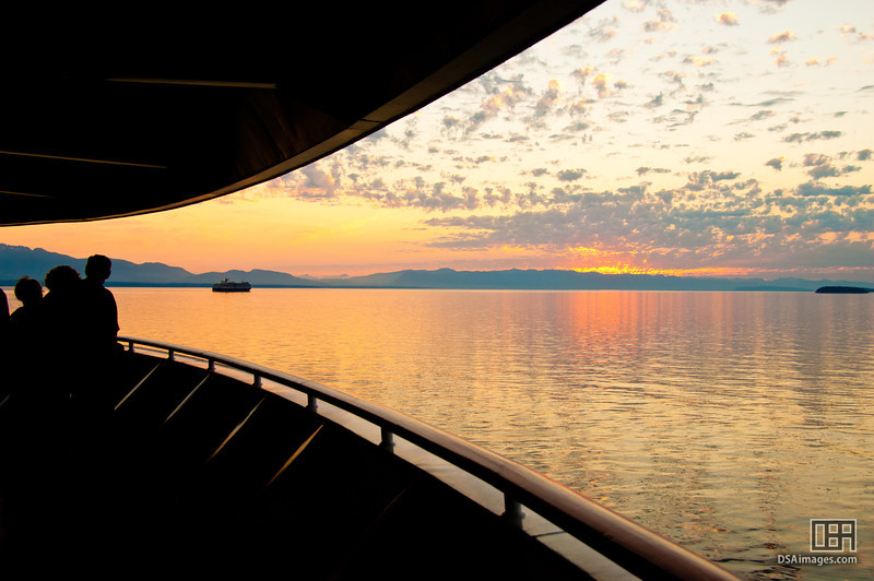 Dusk from onboard the Sapphire Princess leaving Vancouver