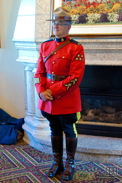 Royal Canadian Mounted Police Officer in red serge uniform