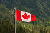 Canadian flag at Rogers Pass