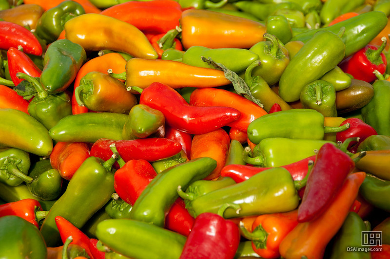 Colourful supersweet chillies available at the Fruit Garden store near Okanagan