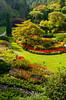 The Sunken Garden at the Butchart Gardens