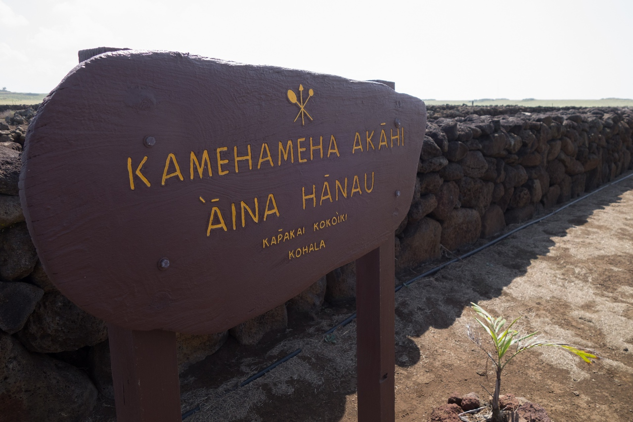The birthplace of Kamehameha I and the location of the Moʻokini heiau in the Kohala Historical Sites State Monument