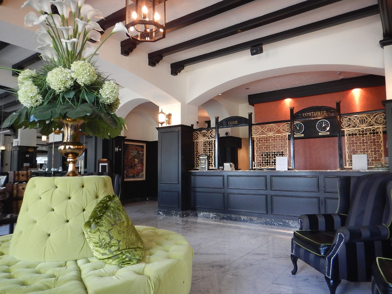 the Clarendon lobby