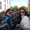 Michelene and Kiera on the Quebec double-decker hop on-hop off bus tour