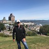 Michael, at the Citadel, with Frontenac Castle and the St. Lawrence in the background