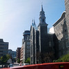 mix of old and new - Quebec hop on-hop off bus tour
