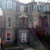 Nice row houses in ritzier area - Quebec hop on-hop off bus tour