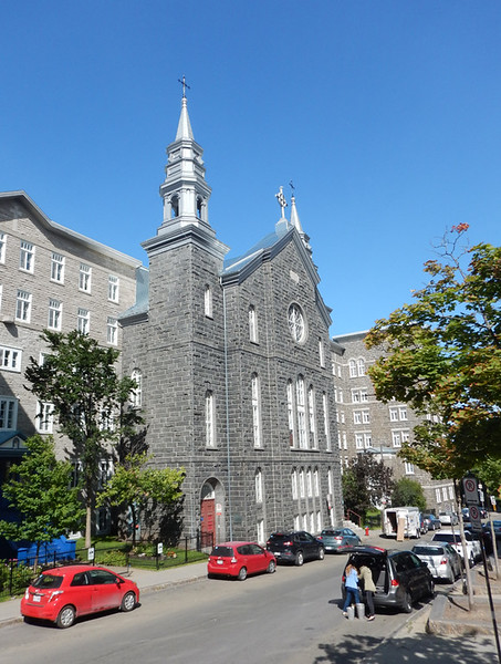 Silver-Steepled Church (lots of these in Quebec) from hop on-hop off bus tour
