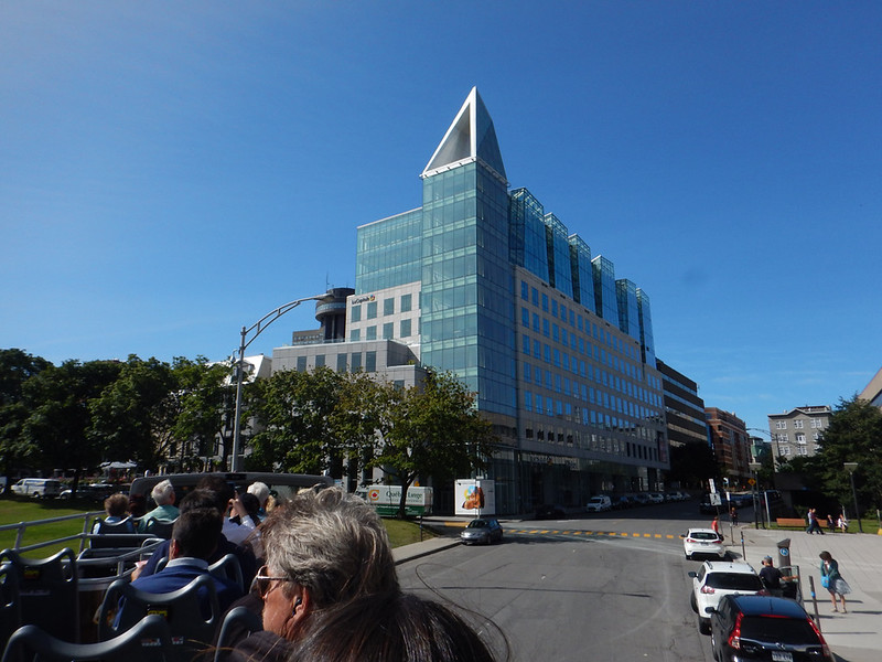 a more modern building - Quebec hop on-hop off bus tour
