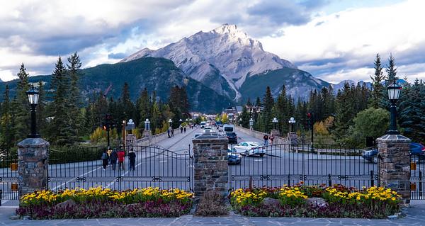 Looking Down Banff Avenue