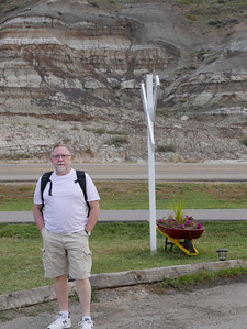 The Badlands & me, outside WHIFS Flapjack House