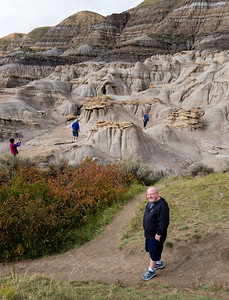 Walking amongst the Hoodoos