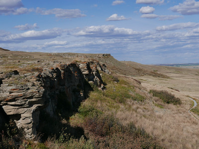 This is one of the cliffs where the buffalo were driven off to their deaths