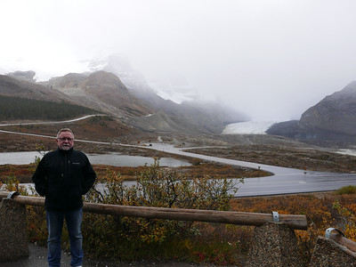A cold and misty day at the Columbia Icefields