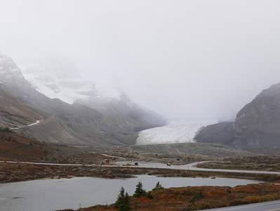 The Athabasca Glacier at Columbia Icefields
