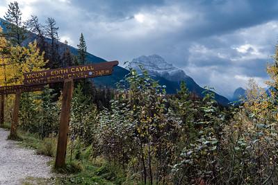 Mountains near Athabasca Falls