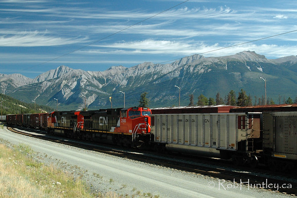 Freight train in Jasper, Alberta.
