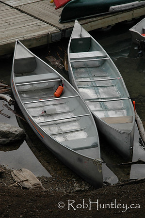 Aluminum canoes at Moraine Lake