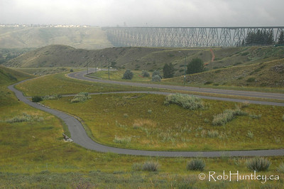High Level Railway Trestle Bridge in Lethbridge, Alberta