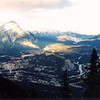 Banff - View from the summit of Sulphur Mountain, showing Banff and the surrounding areas