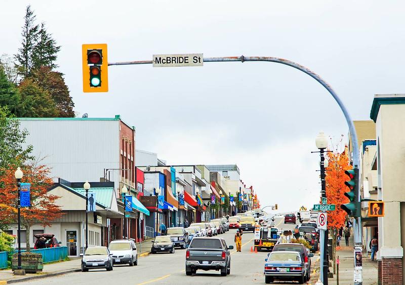 Prince Rupert Main Street, British Columbia, Canada.